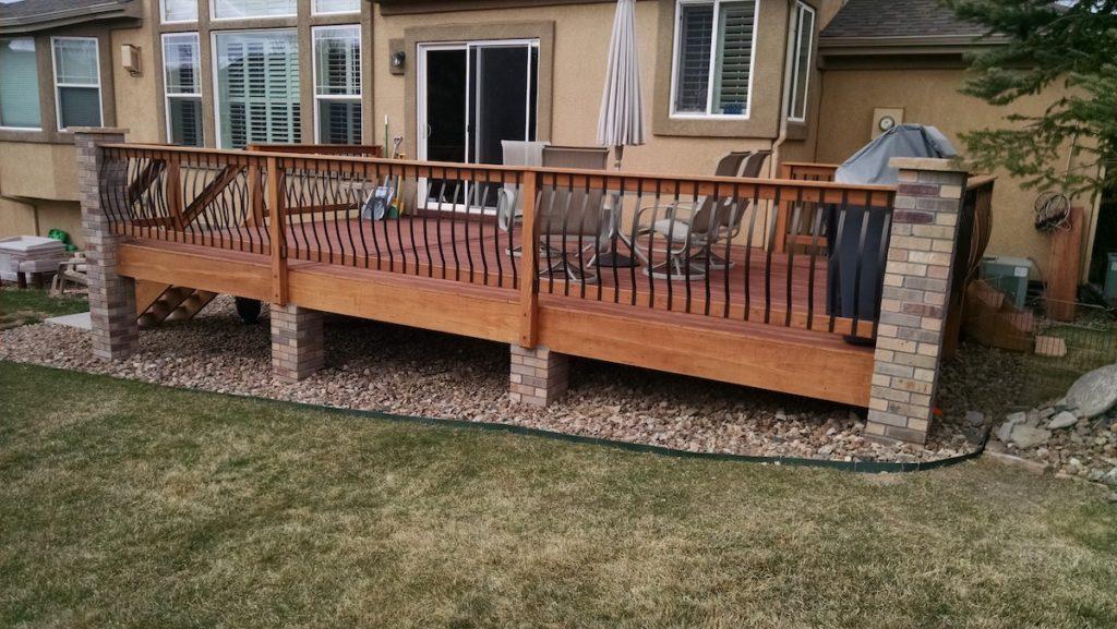 Image of: Deck Railings Colorado Springs Decks By Schmillen